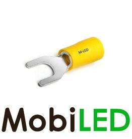 M-LED 100x Vork half geïsoleerd 4-6mm² (6,4mm) geel