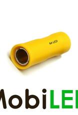 M-LED 100x M-LED PVC Kabelschoen rond vrouw half geïsoleerd 4-6mm² (5 mm) geel