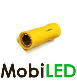 M-LED 100x Rond femelle pré-isolé 4-6mm² (5mm) jaune