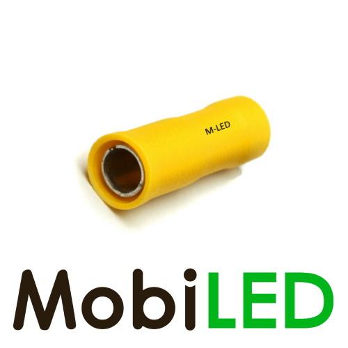 M-LED 100x M-LED PVC Cosse à sertir rond femelle pré-isolé 4-6mm² (5 mm) jaune