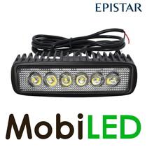 Werklamp 18 watt mini led bar breedstraler lange kabel