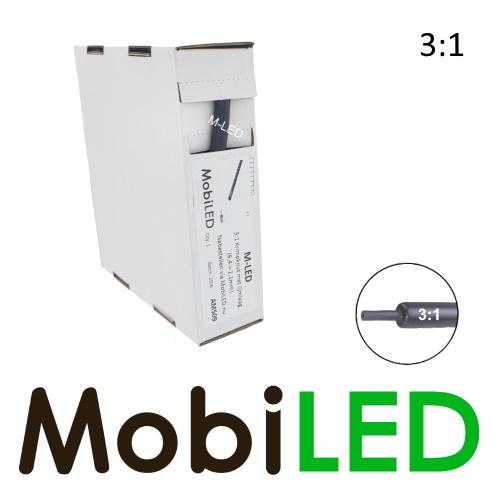 M-LED 5 meter Premium 3:1 Ratio krimpkous met lijmlaag (6.4 → 2.1 mm)