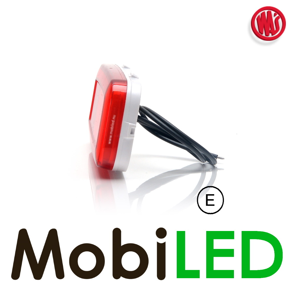"""WAS LED side marking """"NEON"""" red border - E-Marque"""