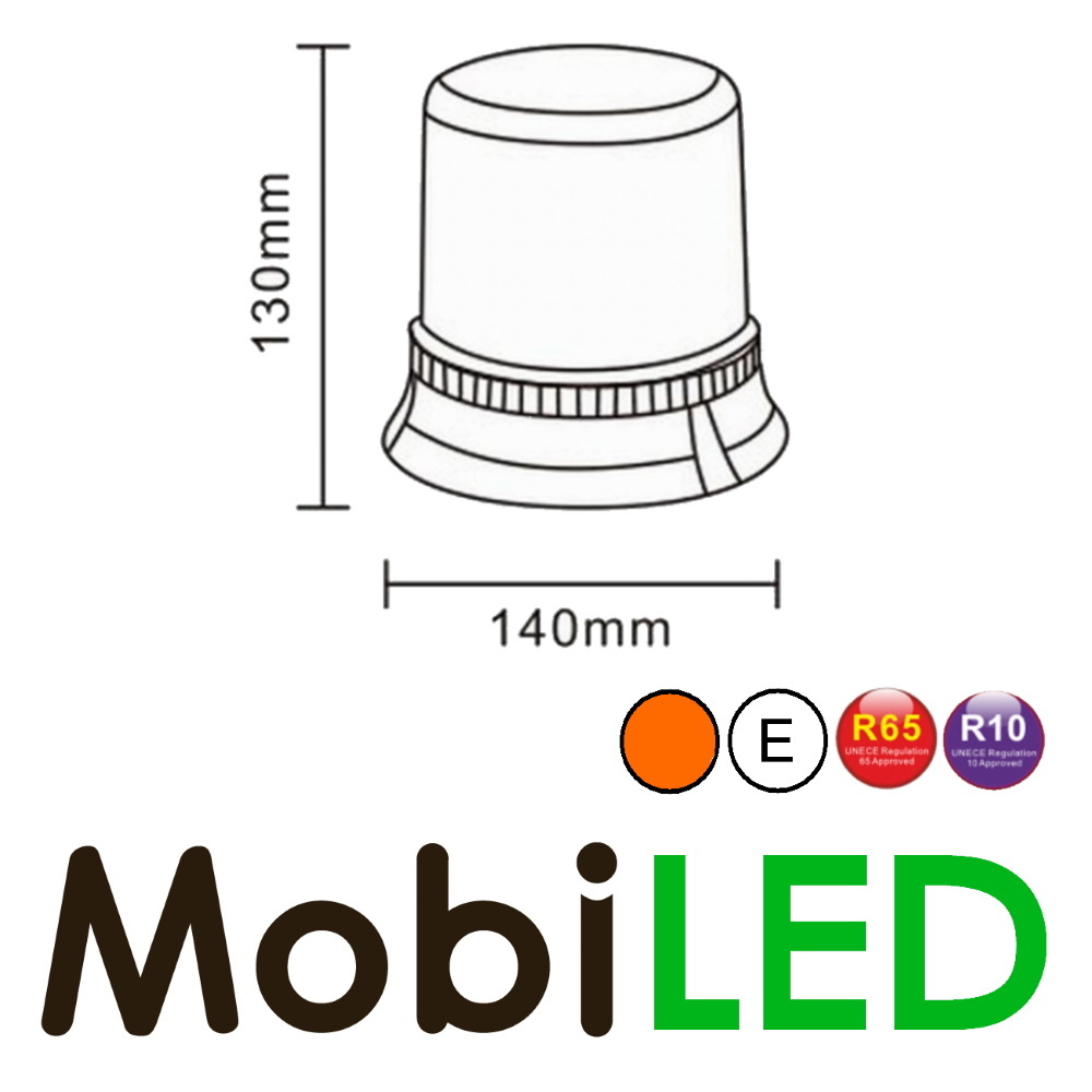 Flitslamp 18 LED amber