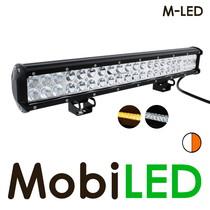 LED bar 126W Combo beam  met amber flitser