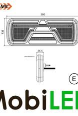 Achterlicht 5 functies dynamisch rechts met reflector