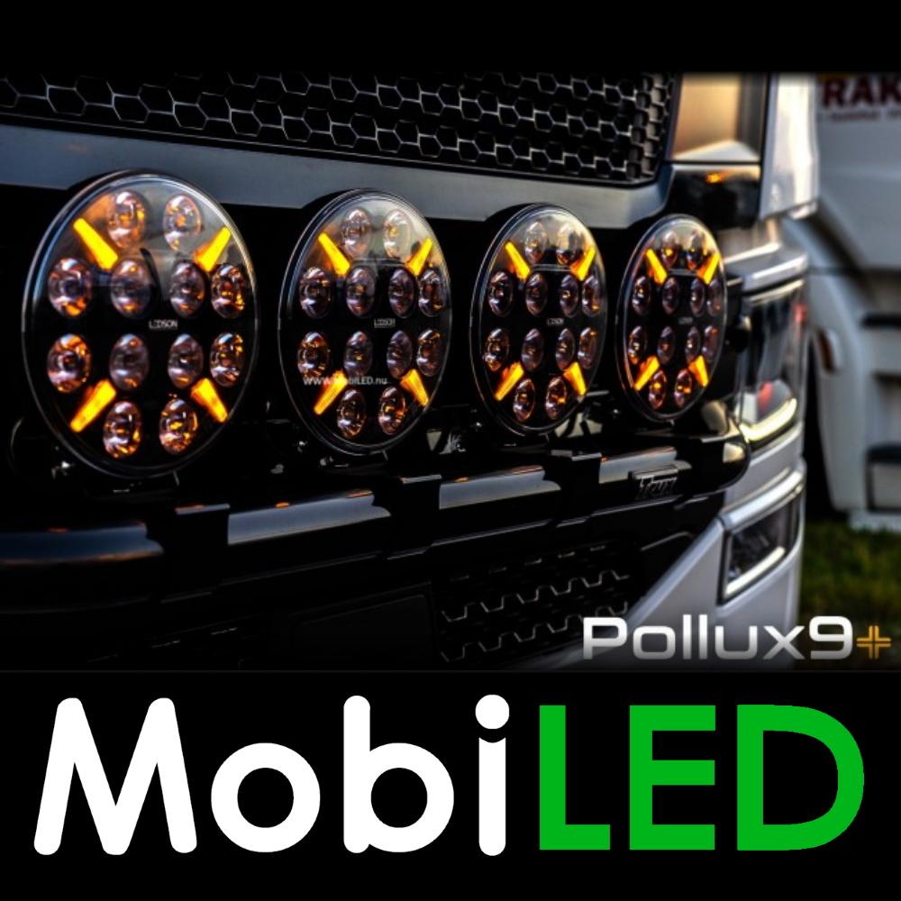 """LEDSON Pollux9+ 9"""" 120W Verstraler met positielicht wit/amber"""