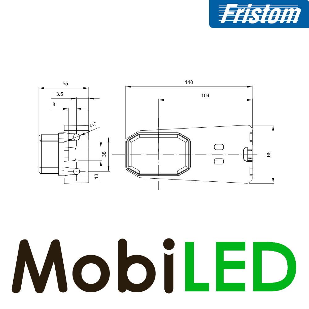 Fristom Fristom marqueurs latéraux bloc blanc support d'angle Aspock