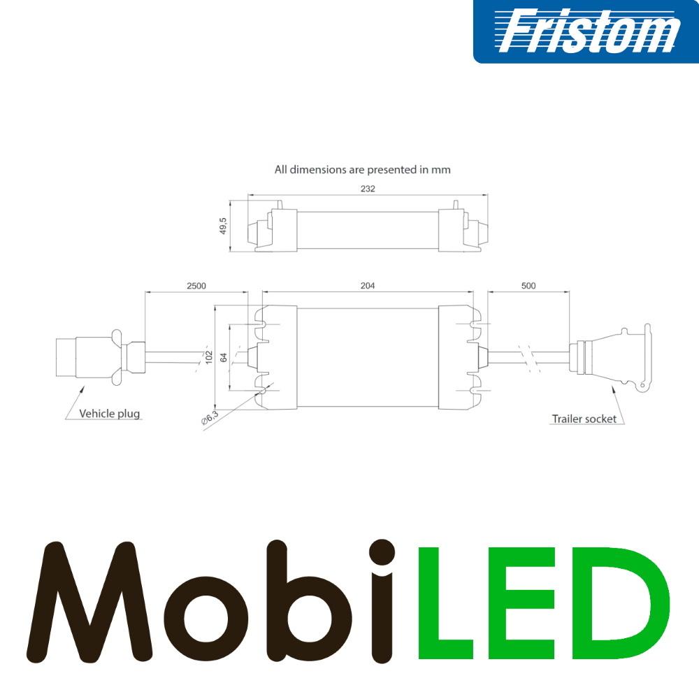 Fristom Canbus controlerbox 12 volt 7 pins (ISO 1724) voor aanhangers zonder connector