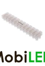 Kroonsteen strip 12 connectoren 3A