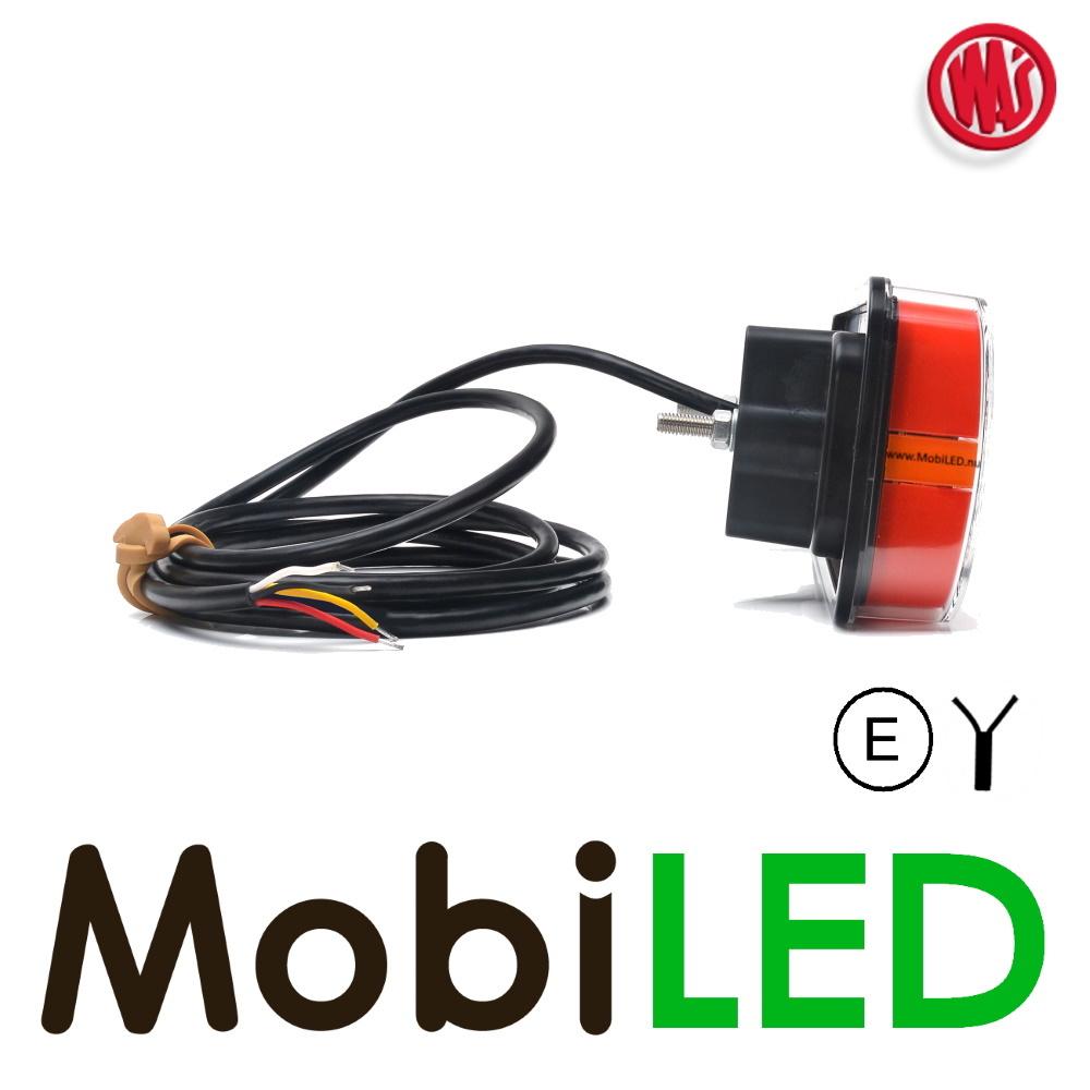 WAS WAS NEON look achterlicht  E-keur 3 functies met kenteken 12/24 volt
