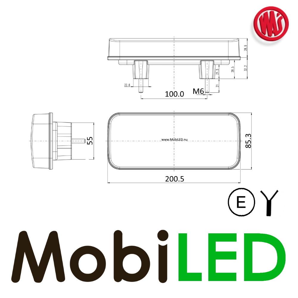 WAS WAS NEON look achterlicht  E-keur 3 functies 12/24 volt