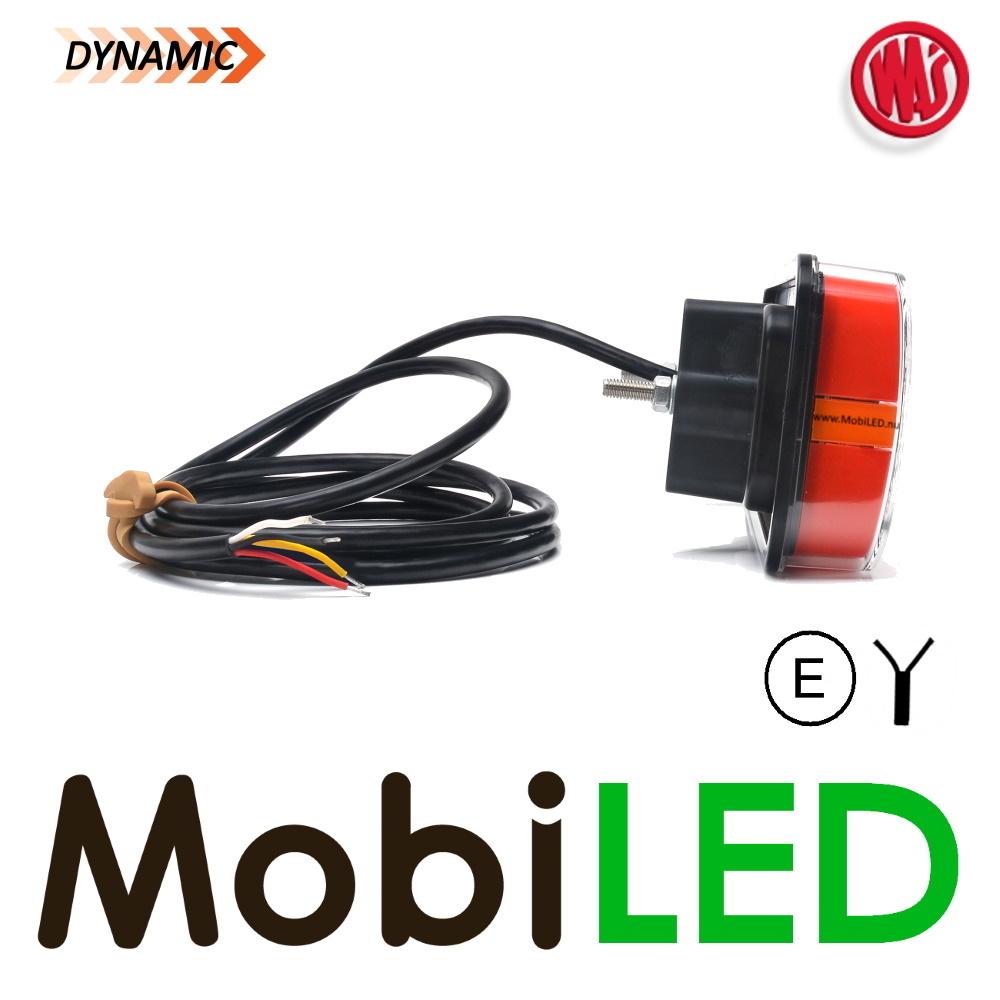 WAS WAS NEON look dynamisch achterlicht E-keur 3 functies 12/24 volt