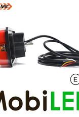 WAS WAS NEON look dynamisch achterlicht 3 functies met kenteken 12/24 volt
