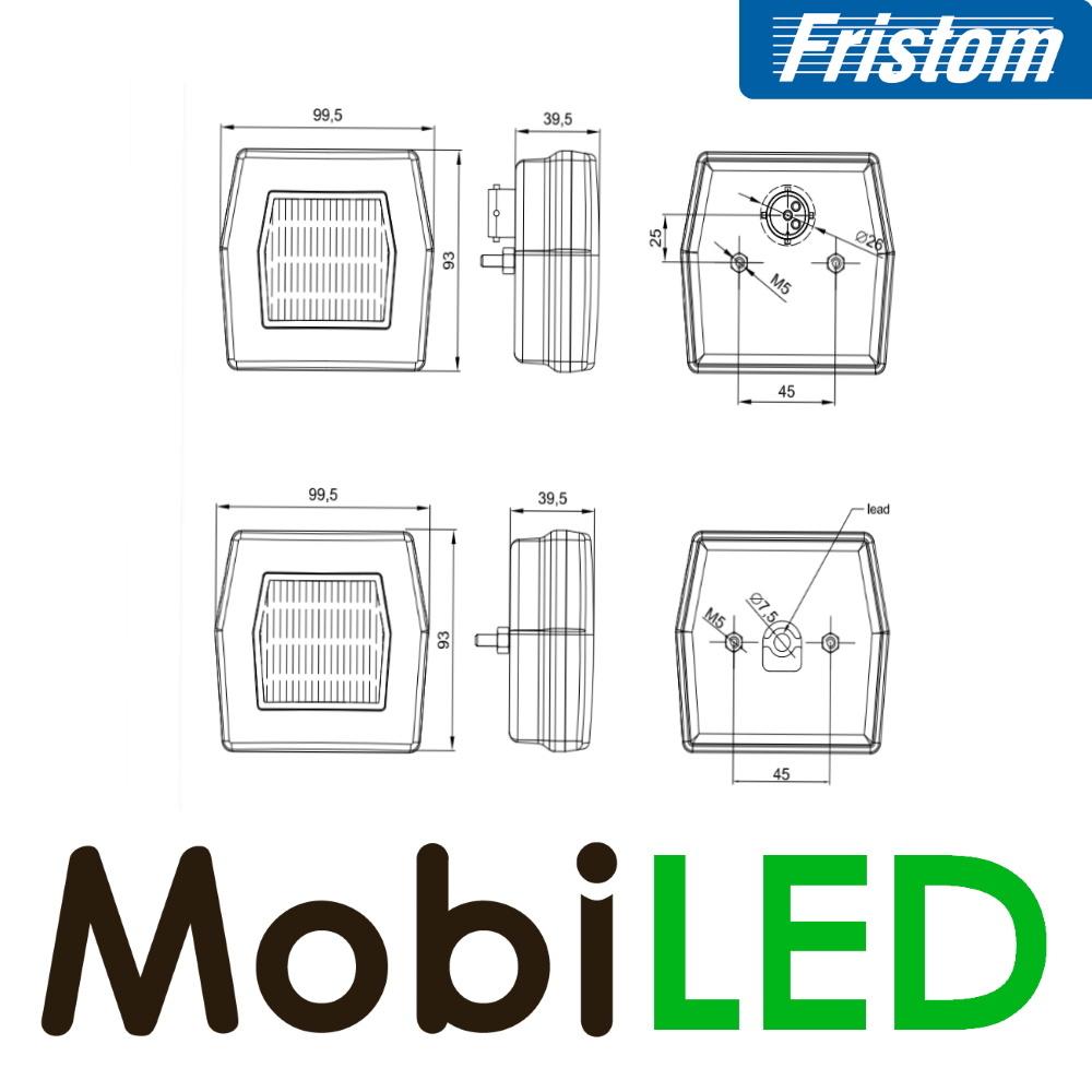 Fristom Fristom NEON look 6-kant positielicht 2 functies E-keur bajonet