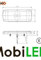 Dynamique NEON feu arrière 5 fonctions universel E-mark