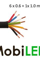 Câble de connexion 6 x 0.6 mm2 + 1 x 1mm2