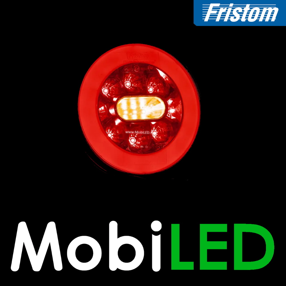 Fristom Neon look Rond achterlicht 3 functies kabel