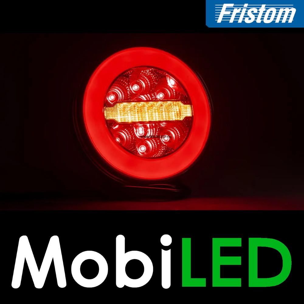 Fristom SET 3 ronde achterlichten 4 functies (mist) met kabelset
