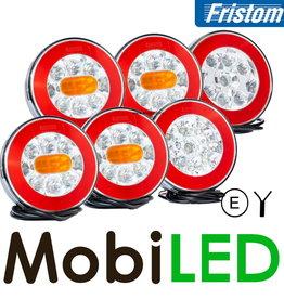Fristom Set de 6 feux arrières rond 5 fonctions