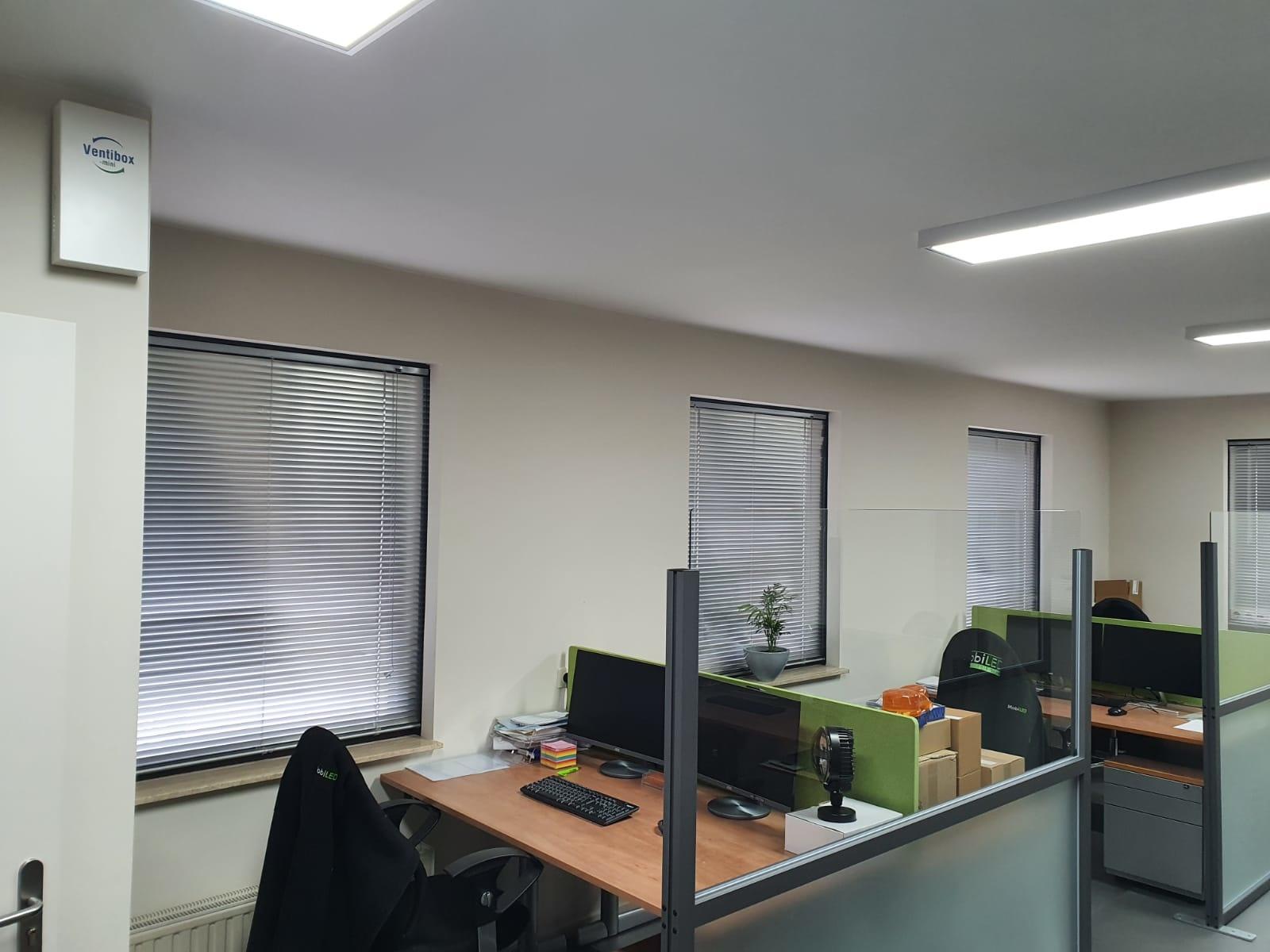 Bureauschermen en Ventibox