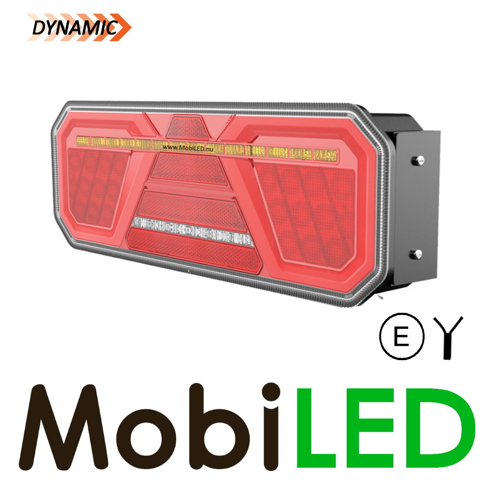 Dynamisch NEON achterlicht 5 functies links E-keur zijmarkering