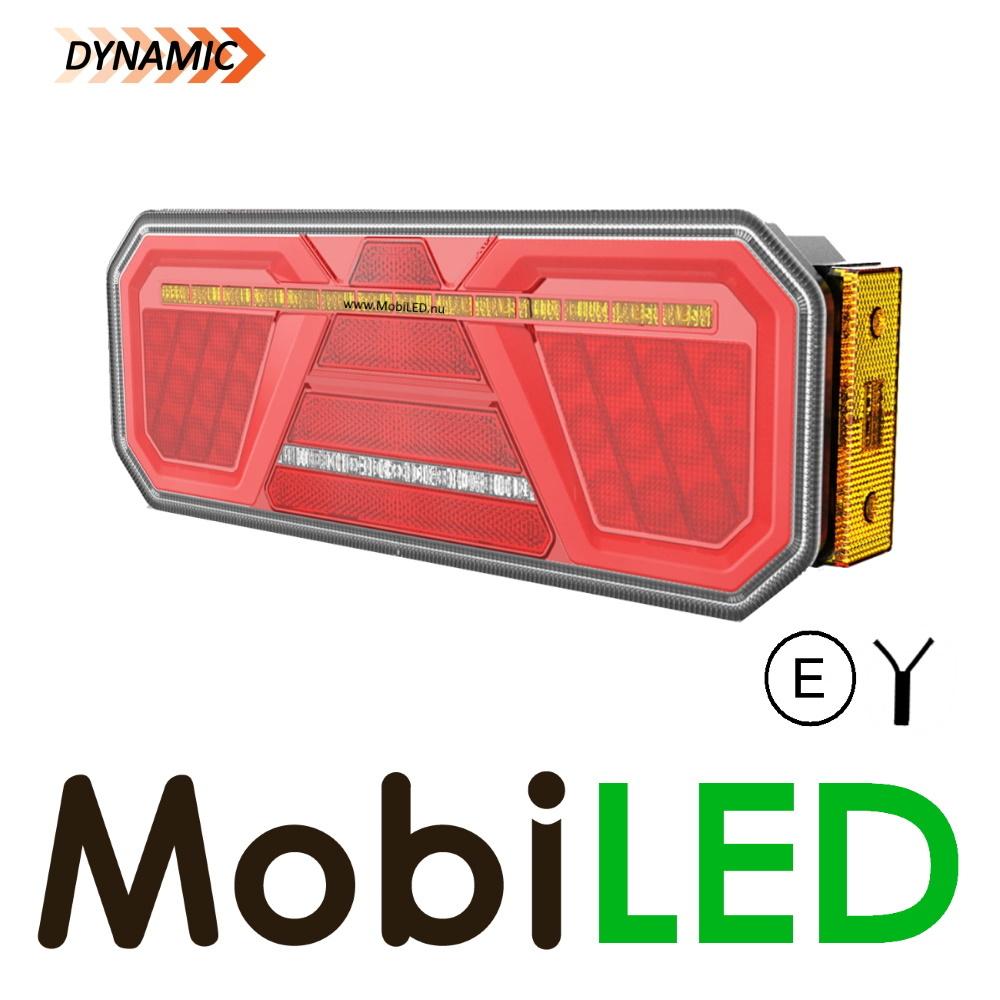 Dynamisch NEON achterlicht 5 functies rechts E-keur zijmarkering