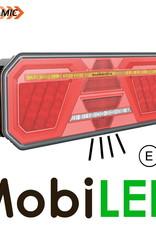 Dynamisch NEON achterlicht 5 functies links E-keur zijmarkering en kentekenverlichting