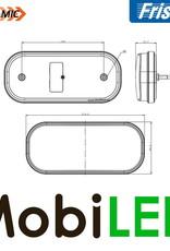 Fristom Achterlicht 4 functies (achteruit) kabel FT-230 E-keur