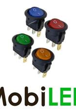 Interrupteur à Bascule led bleu  symbole marche/arrêt 16Amp 12V