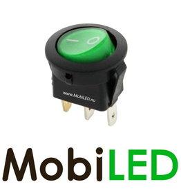 Interrupteur à Bascule led vert symbole marche/arrêt 16Amp 12V