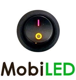 Interrupteur à Bascule led jaune / rouge Symbole marche / arrêt 20 Amp 12V