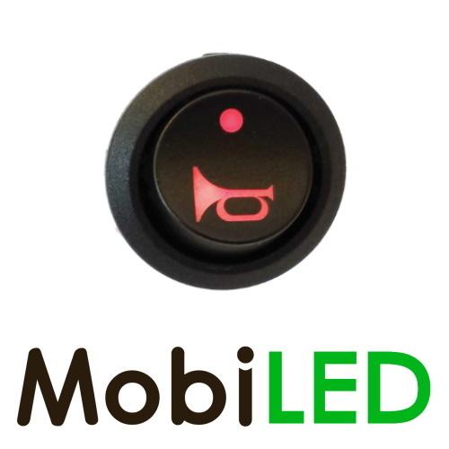 Interrupteur à bascule Sirène symbole rouge LED rouge 35 Amp 12 volt