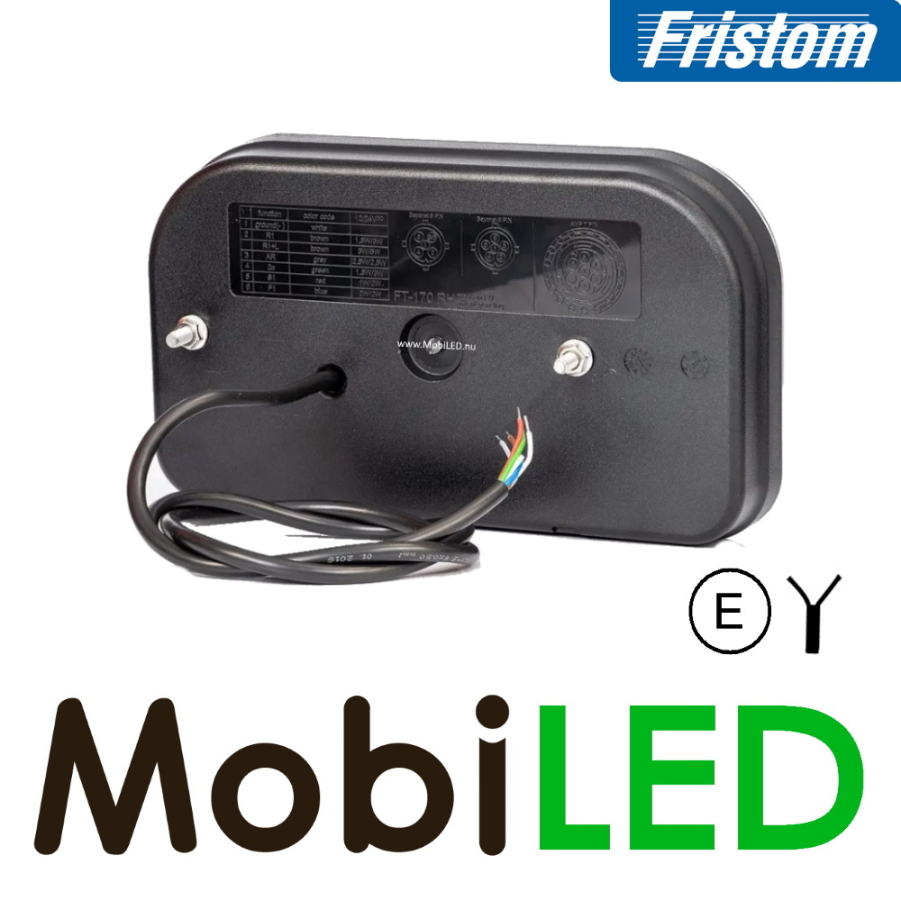 Fristom Achterlicht 3 functies kenteken rechts kabel