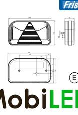 Fristom Achterlicht 4 functies (mist) kenteken links kabel