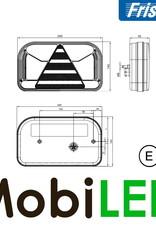 Fristom Achterlicht 4 functies (mist) kenteken links bajonet