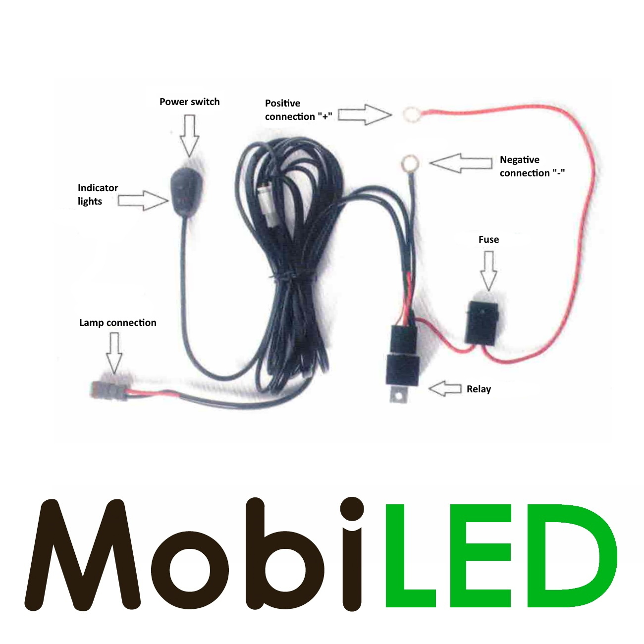 M-LED Slimline 108 watt led bar + aansluitset
