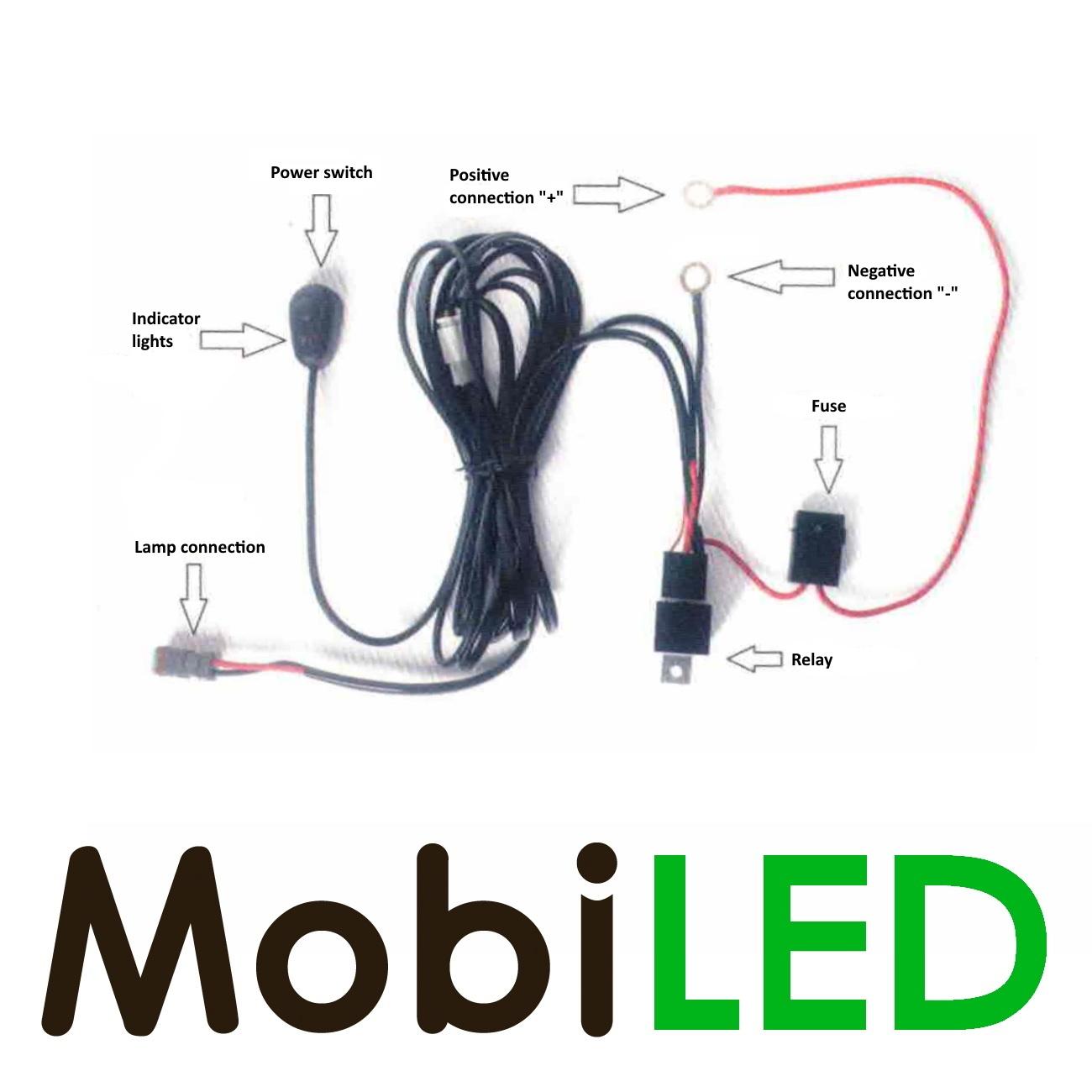M-LED Slimline 144 watt led bar + aansluitset