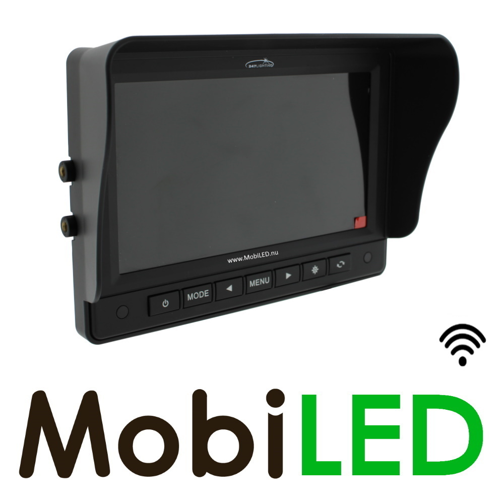 Achteruitrij camera set, monitor en camera draadloos