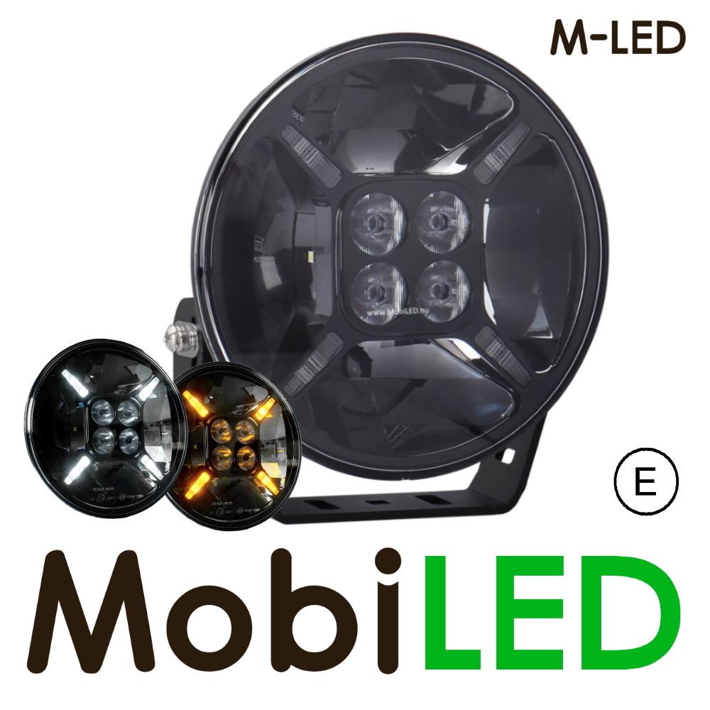 M-LED Cruiser 9 inch wit amber positielicht  120watt