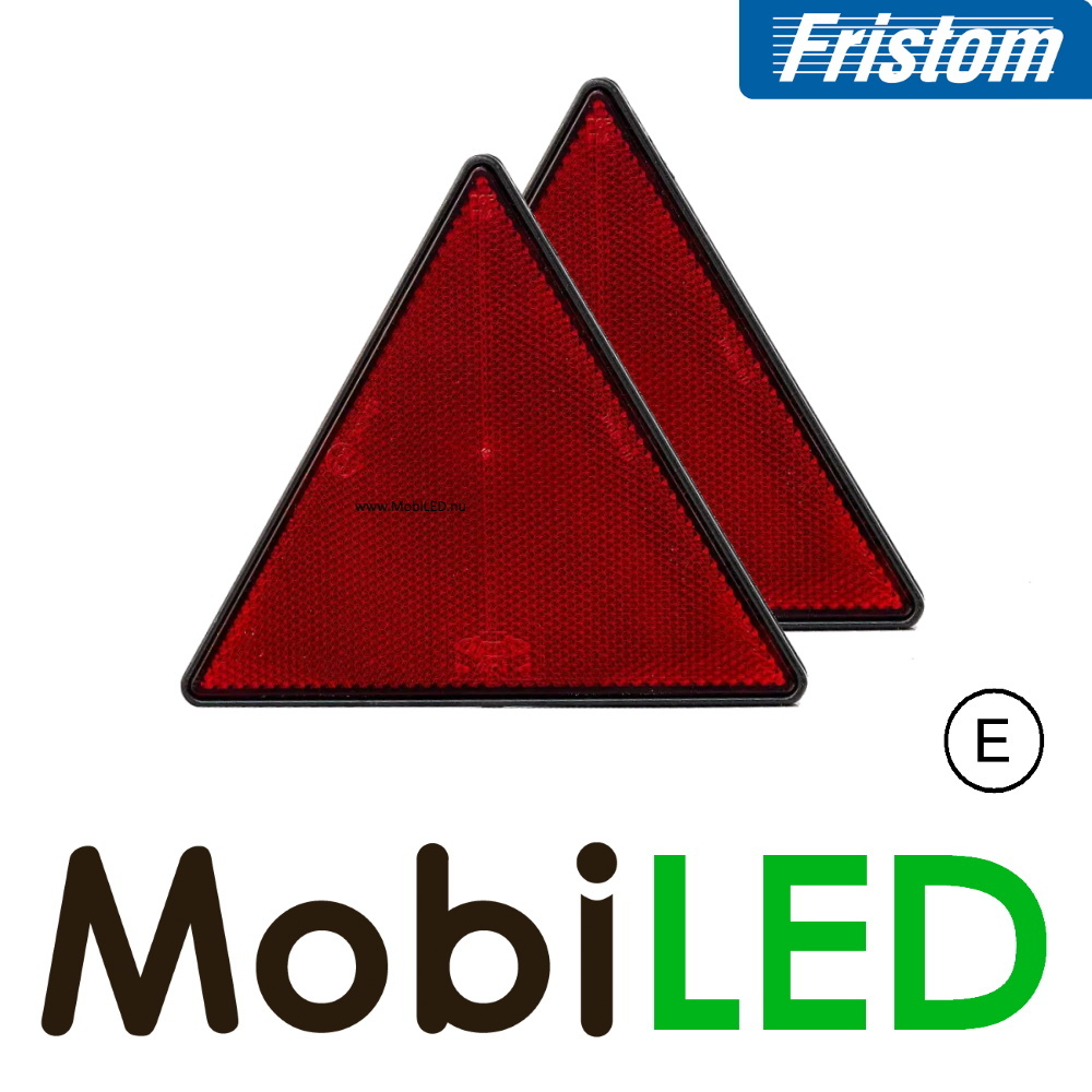 Fristom Reflector driehoek Rood E-keur (2 stuks)
