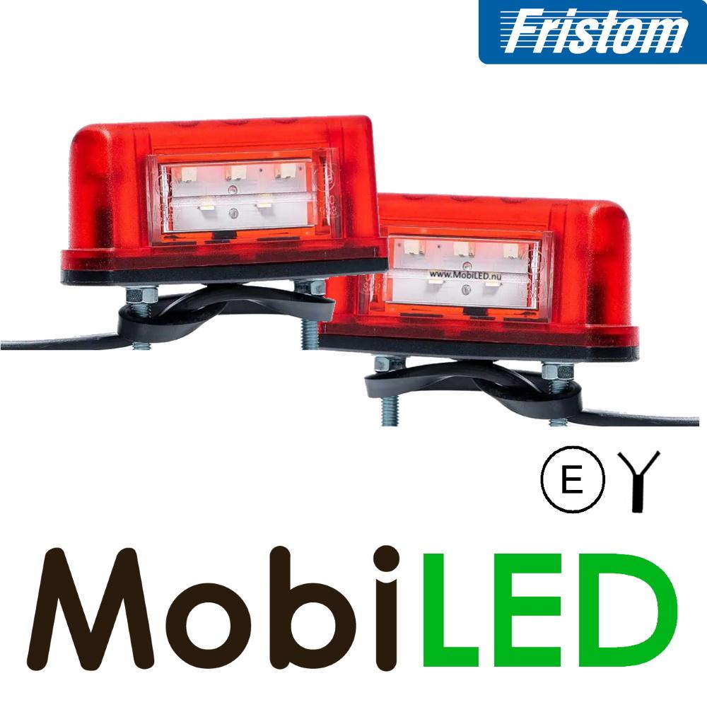Fristom Set Multifunctionele Kentekenverlichting klein E-keur 12-24 volt