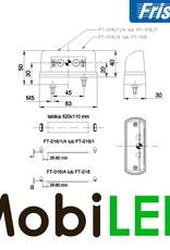Fristom Set Multifunctionele Kentekenverlichting groot - E-keur - 12-24 volts