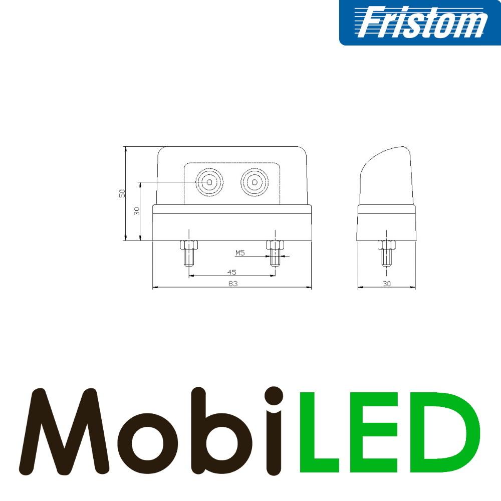 Fristom Set Kentekenverlichting Aspock E-keur 12-24 volt