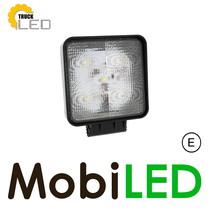 Werklamp 15 watt vierkant extra dun met E-Keur