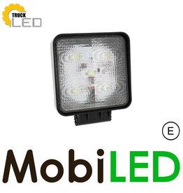 TruckLED E-Keur 15 watt werklamp  vierkant