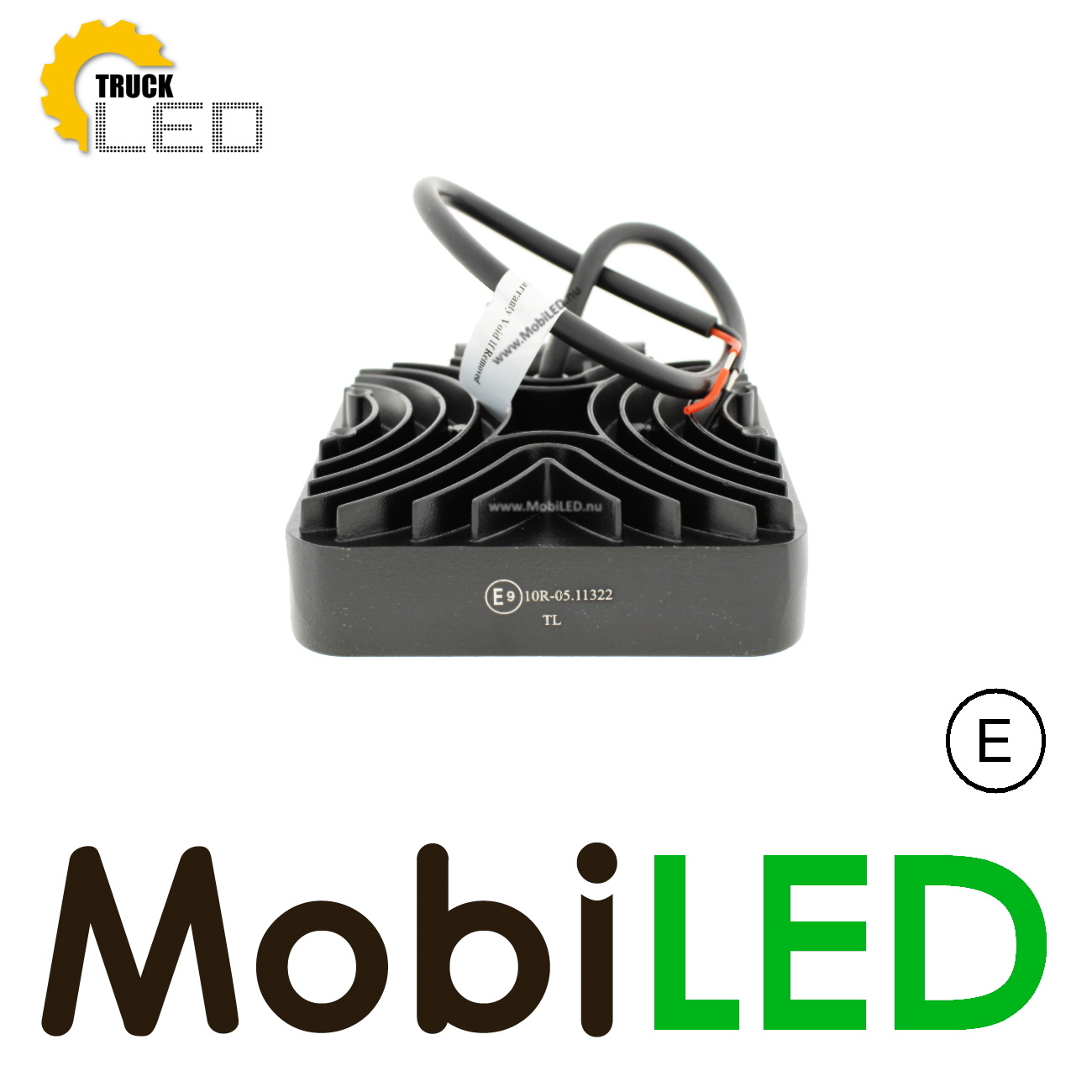 TruckLED Werklamp 15 watt vierkant extra dun met E-Keur