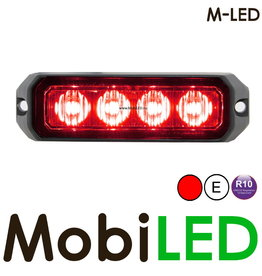 M-LED Flitser Rood Pro 4 Compact