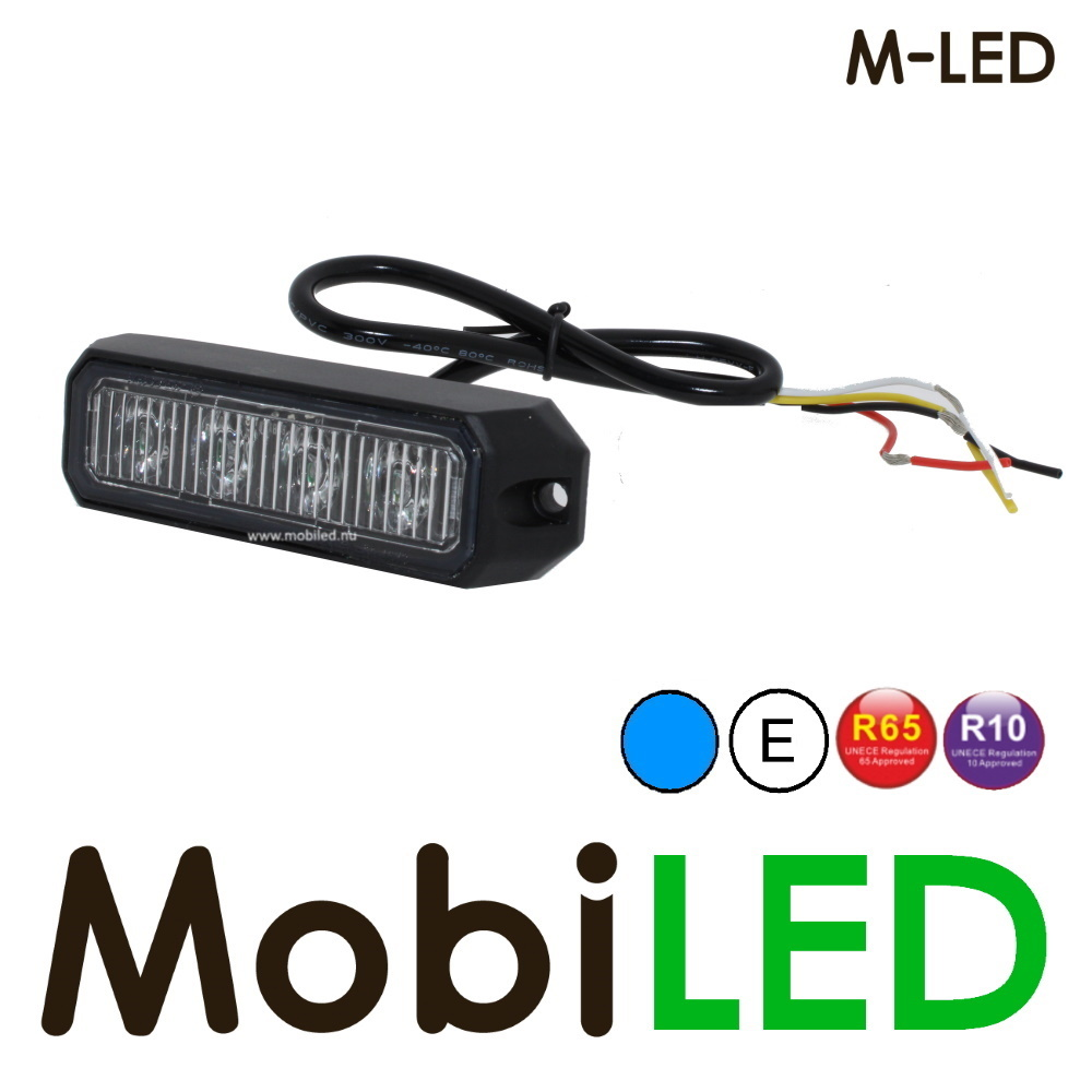 M-LED Flitser Blauw Pro 4 Compact R65 12-24 volt