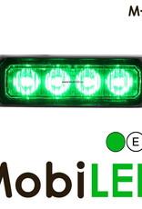 M-LED Flitser Groen Pro 4 Compact 12-24 volt